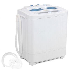 DELLA Electric Small Little Portable Compact Washer Washing Machine for apartments, dorm rooms, RVs, motorhomes, campers.