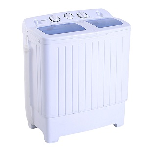 Giantex Portable Mini Compact Twin Tub 11 lb. Washing Machine Washer Spin Dryer for Dorm Rooms, RVs, Apartments, Camping.