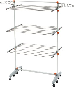 Genial Premium Heavy Duty Foldable Laundry Clothes Storage Drying Rack System,  Stainless Steel Clothing Dryng Racks
