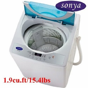 haier portable washing machine. sonya washing machine is compact, portable for apartment, small washer with free haier