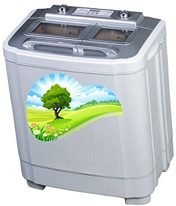 The Laundry Alternative E-Z Rinse Twin Tub Washing Machine with Spin Dryer, no traditional hook-ups required.